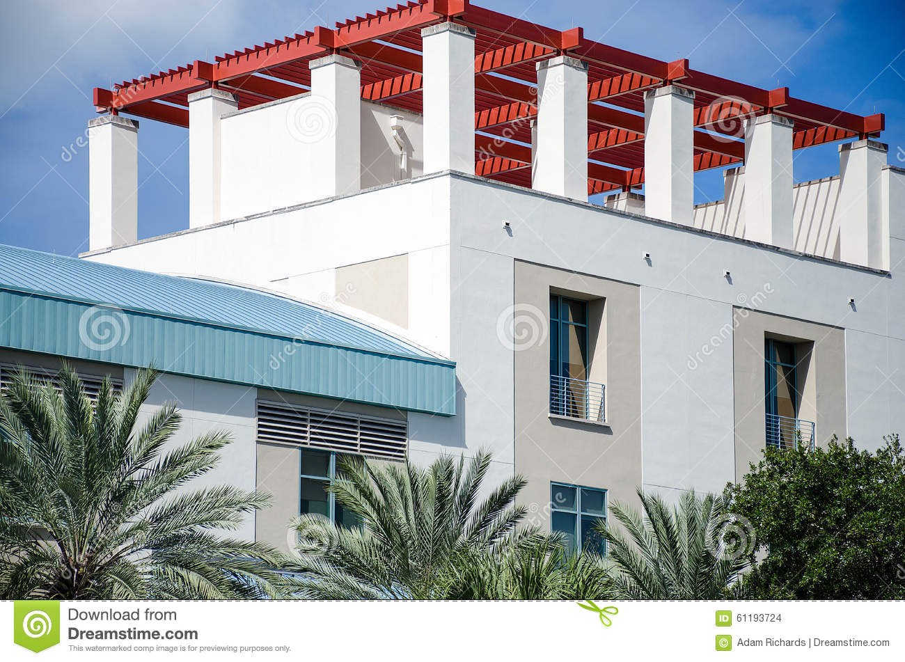 Red Roof Stock Photo Image 61193724