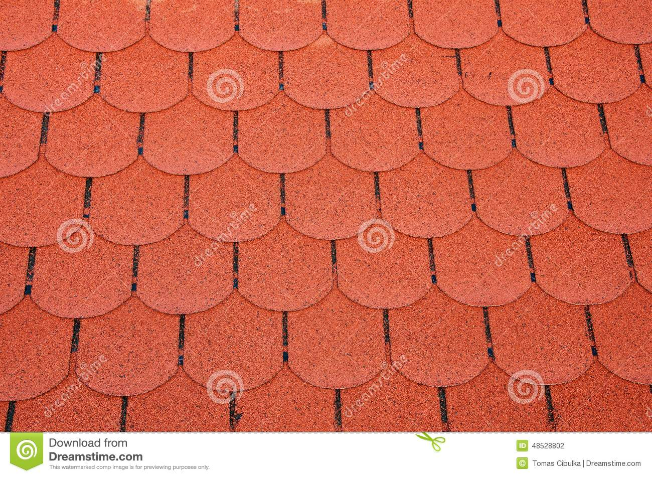Red Roof Shingles Stock Photo Image 48528802