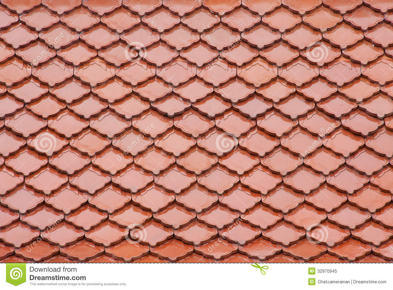 Red roof royalty free stock photo image 32970945 for Fish scale shingles