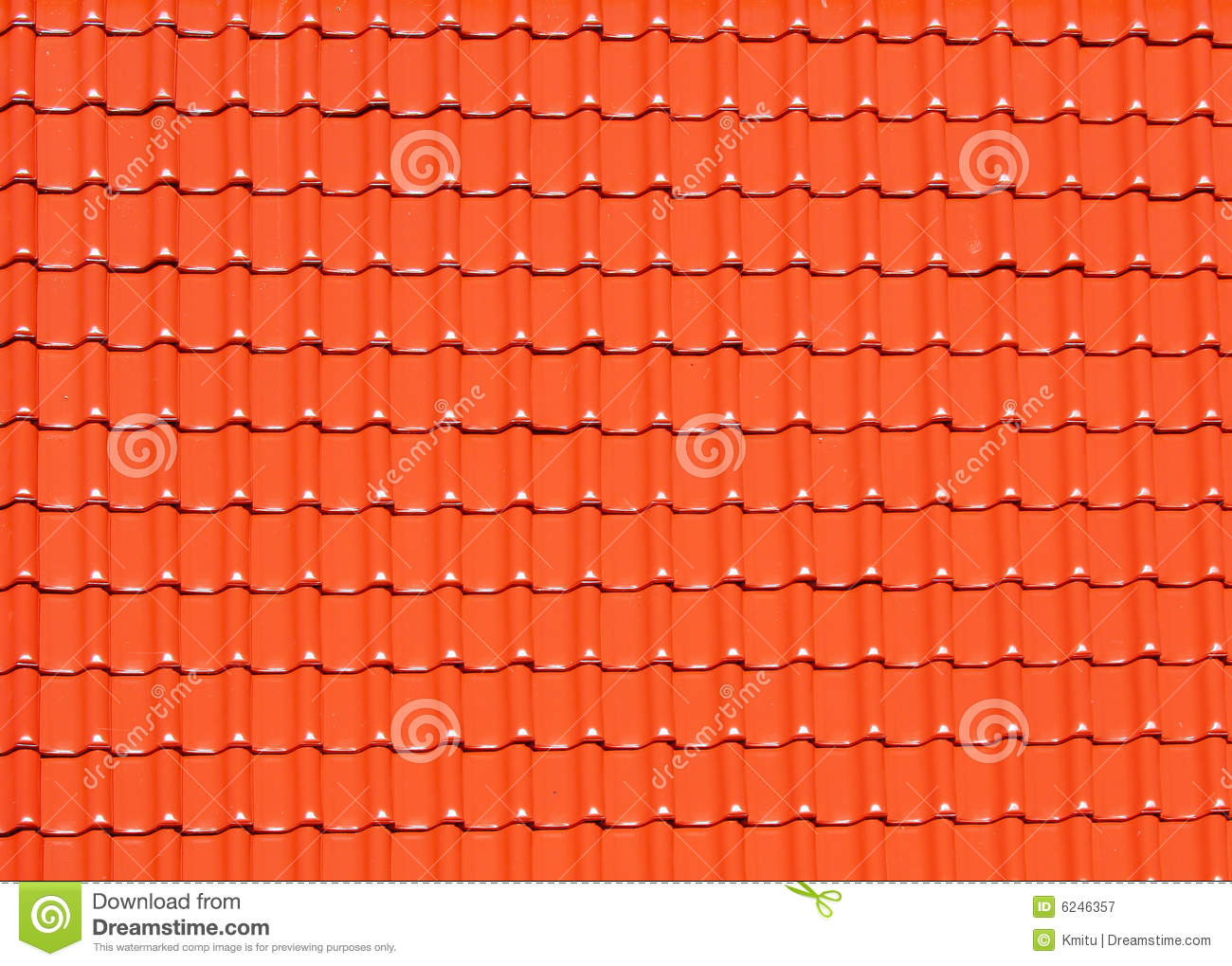 Red Roof Tiles Background Royalty Free Stock Photography