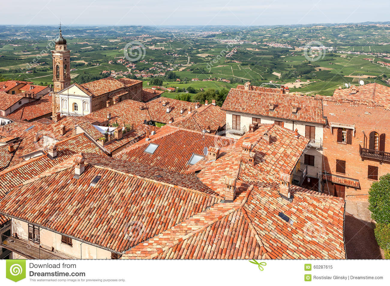 Red roofs of italian town stock photo image 60287615 for Green italy