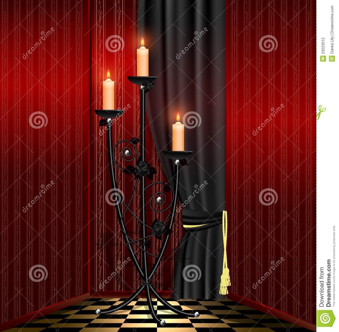 black red rooms. Red Room And Black Chandelier Stock Vector - Illustration Of Apartment, Flowers: 23223512 Rooms R