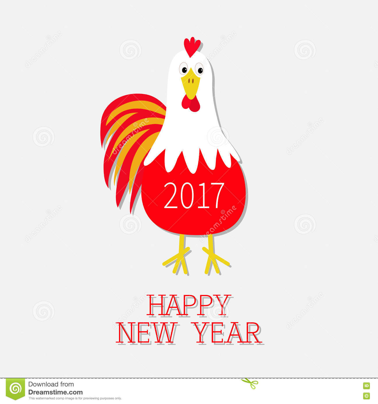 Red rooster bird 2017 happy new year text symbol chinese calendar 2017 happy new year text symbol chinese calendar cute cartoon funny character with big feather tail baby biocorpaavc