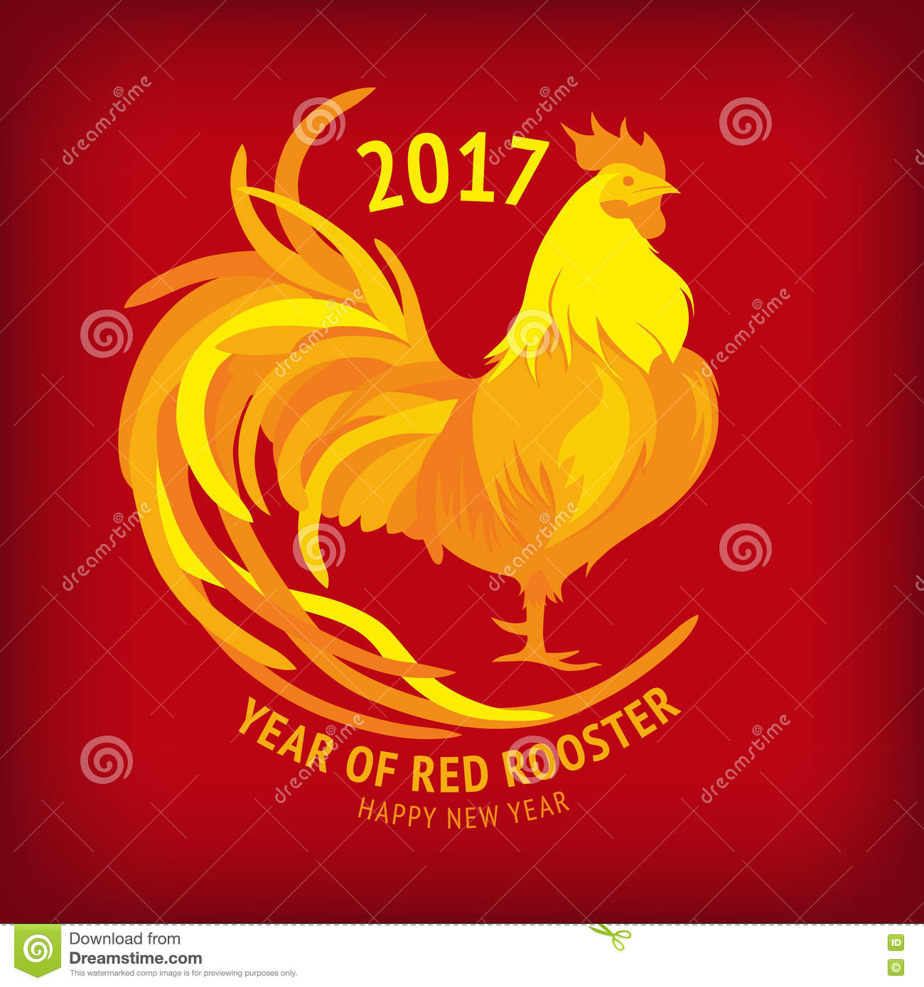 New year 2017 greeting pictures year of rooster happy chinese new year - Red Rooster Happy Chinese New Year 2017 Vector Royalty Free Stock Image