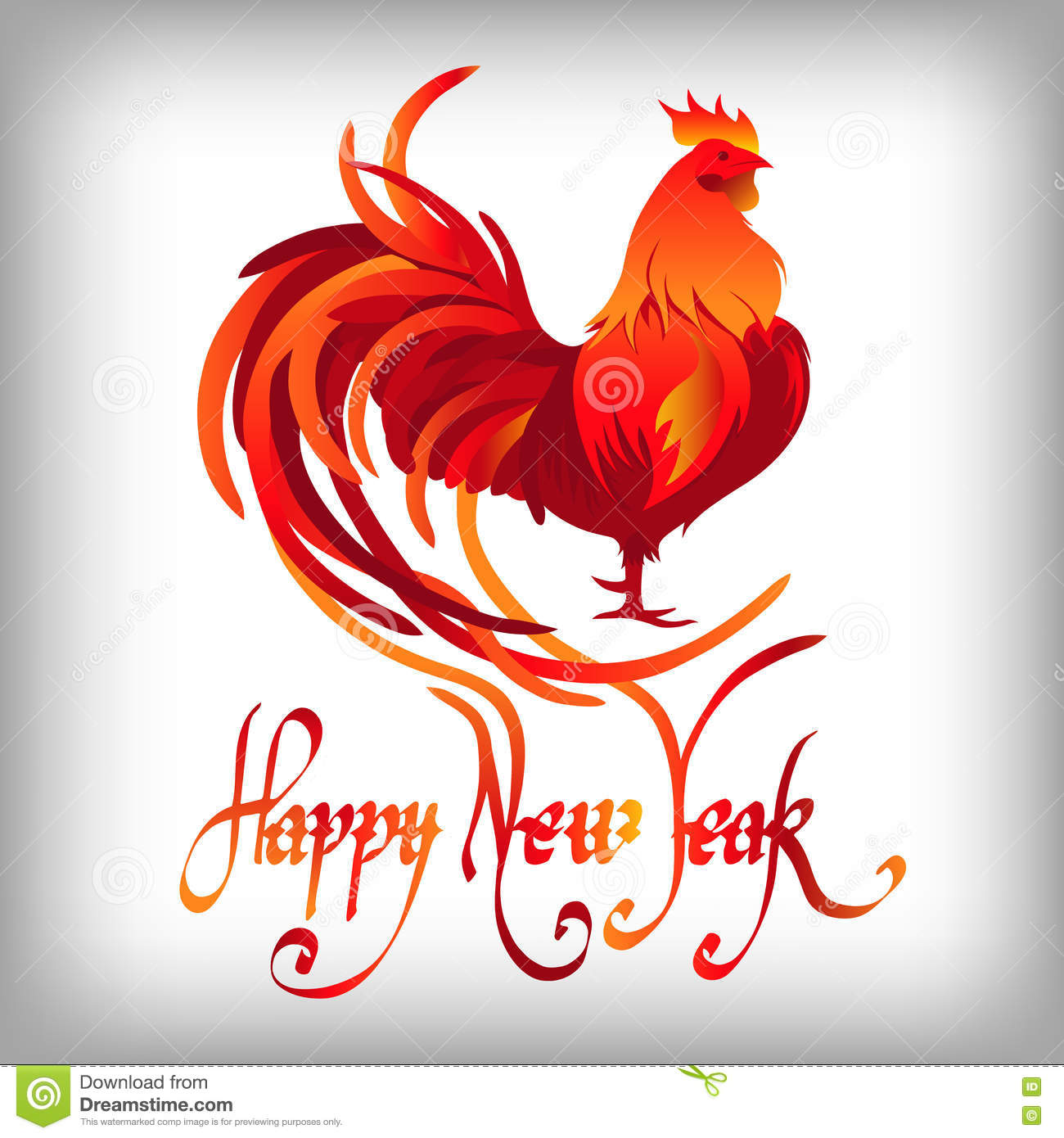 New year 2017 greeting pictures year of rooster happy chinese new year - Red Rooster Happy Chinese New Year 2017 Vector Stock Vector
