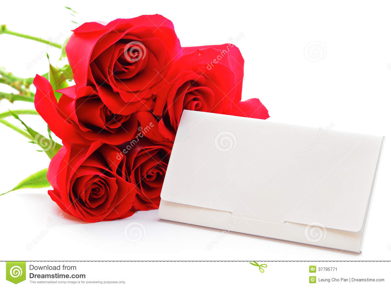 Red rose bouquet and gift card stock image image 37795771 red rose bouquet and gift card negle Choice Image
