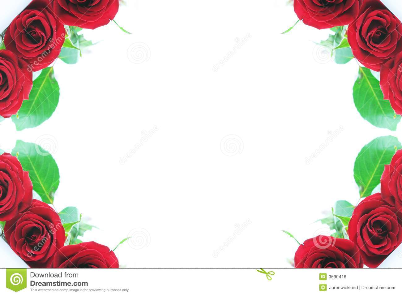 red rose corner borders stock photo image of isolated 3690416