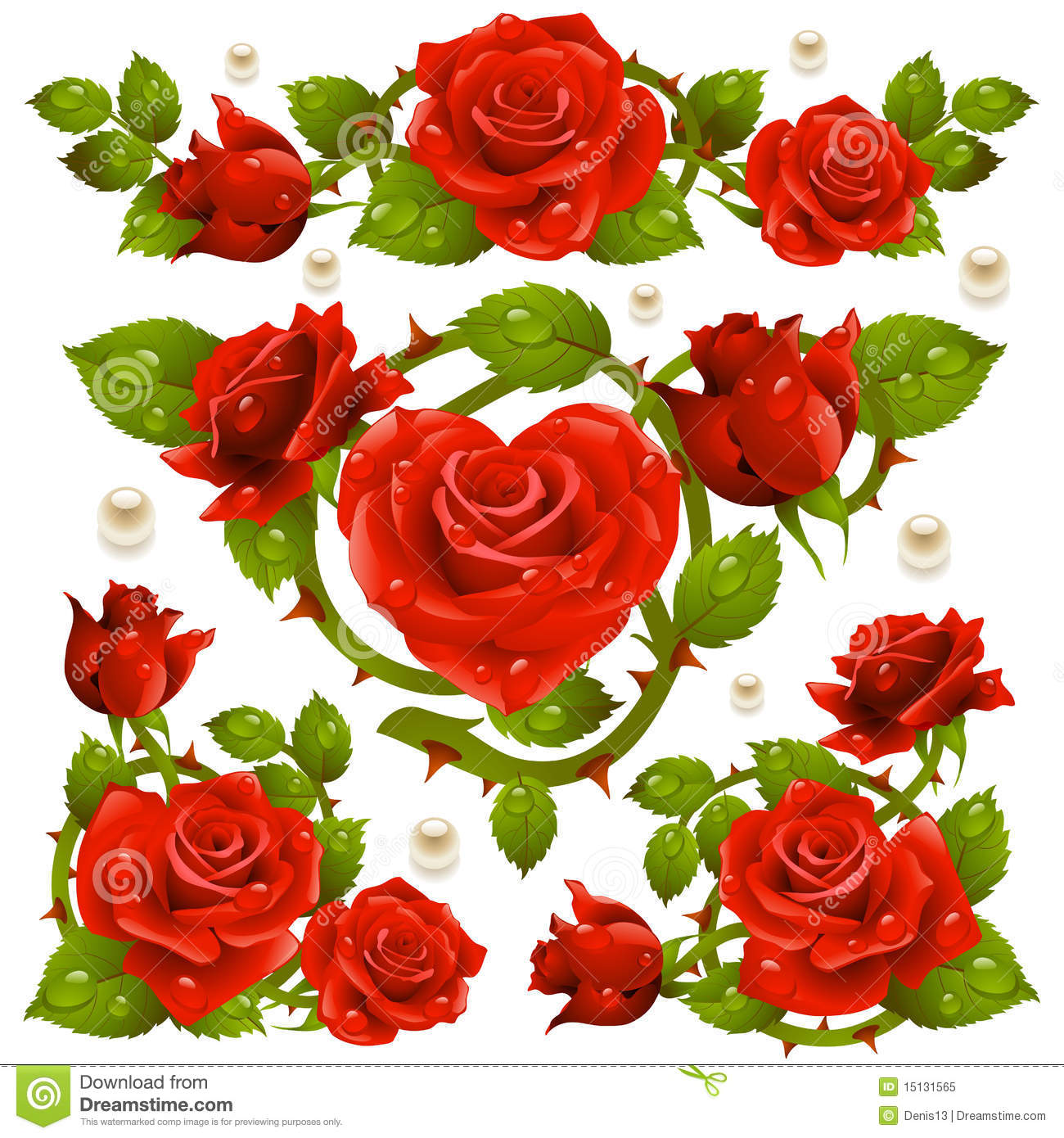 Red Rose design elements stock vector. Image of mother ...