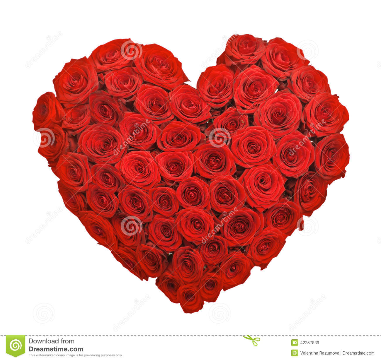 Red Rose Flower Bouquet Heart Shape Stock Image Image Of Petals