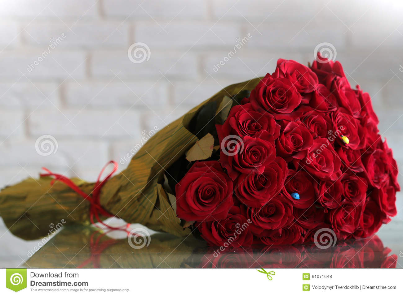 Red rose flowers bouquet stock photo image of brick 61071648 closeup of one big beautiful colorful soft aroma fresh wedding or birthday bouquet of many red rose flowers lying sunny day outdoor on natural background izmirmasajfo