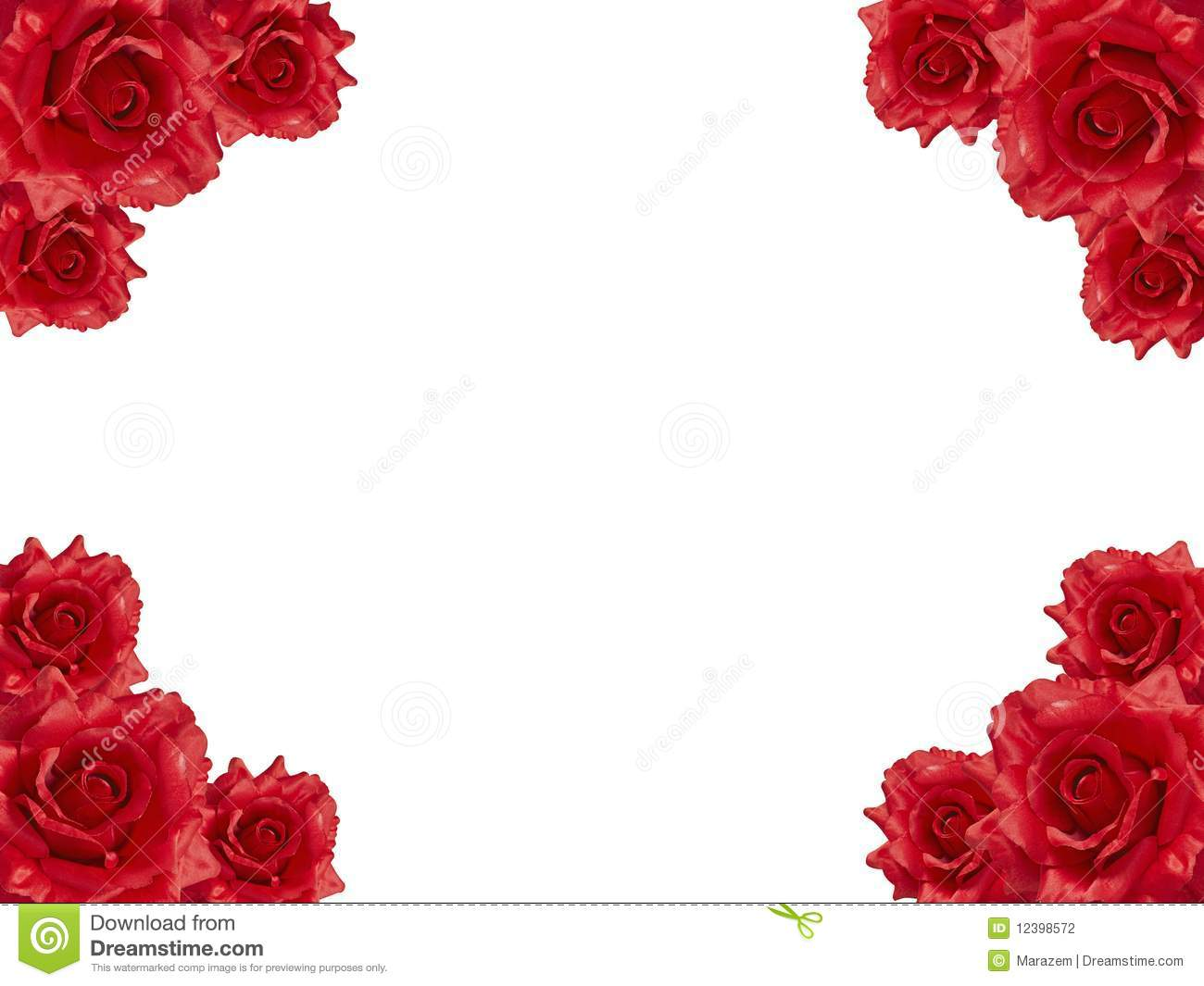Red rose frame stock photo. Image of gift, invitation - 12398572