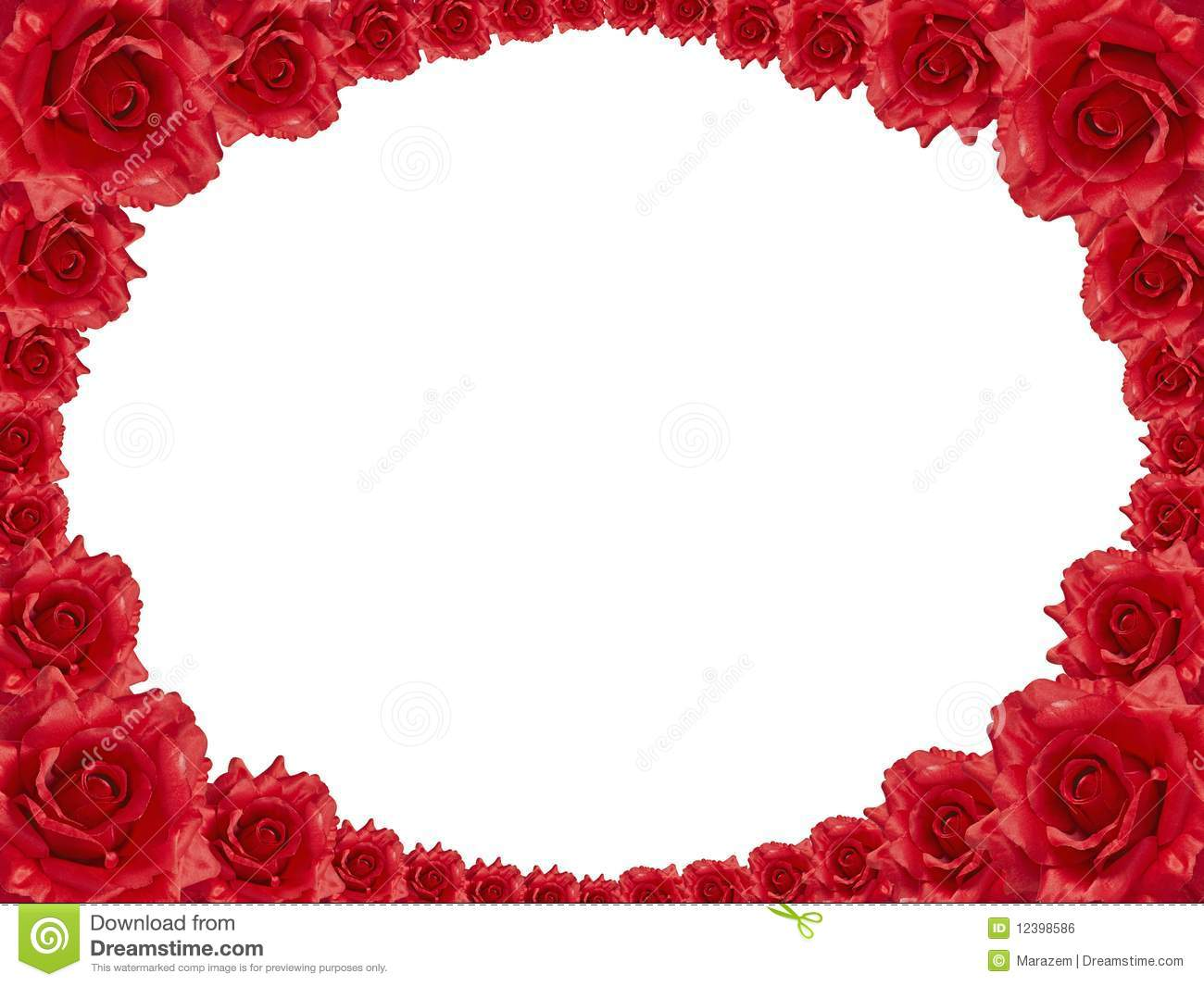 Red Rose Frame Royalty Free Stock Image  Image: 12398586