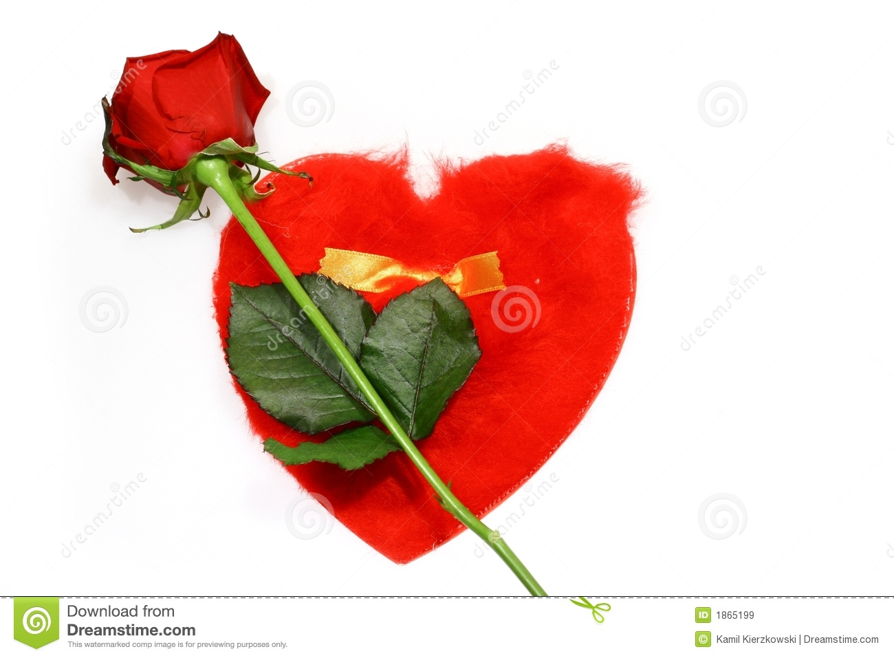 Red Rose Heart Shape Letter Stock Images