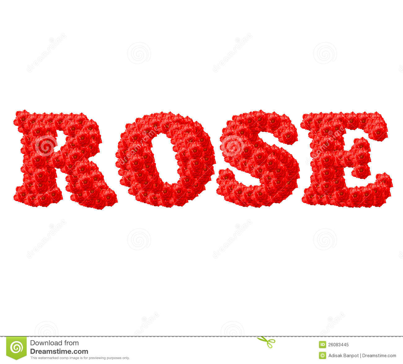 The Red Rose Text Royalty Free Stock Photo - Image: 26083445