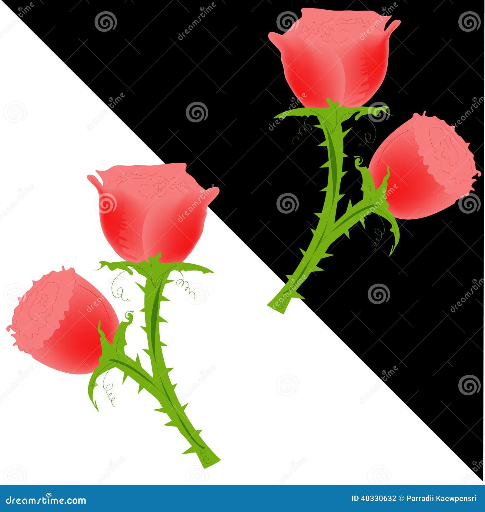 Red Rose Wallpaper Stock Vector Illustration Of Illustration 40330632