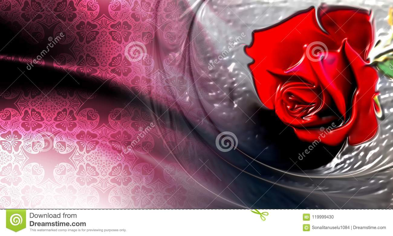 red rose with white textured background wallpaper stock illustration