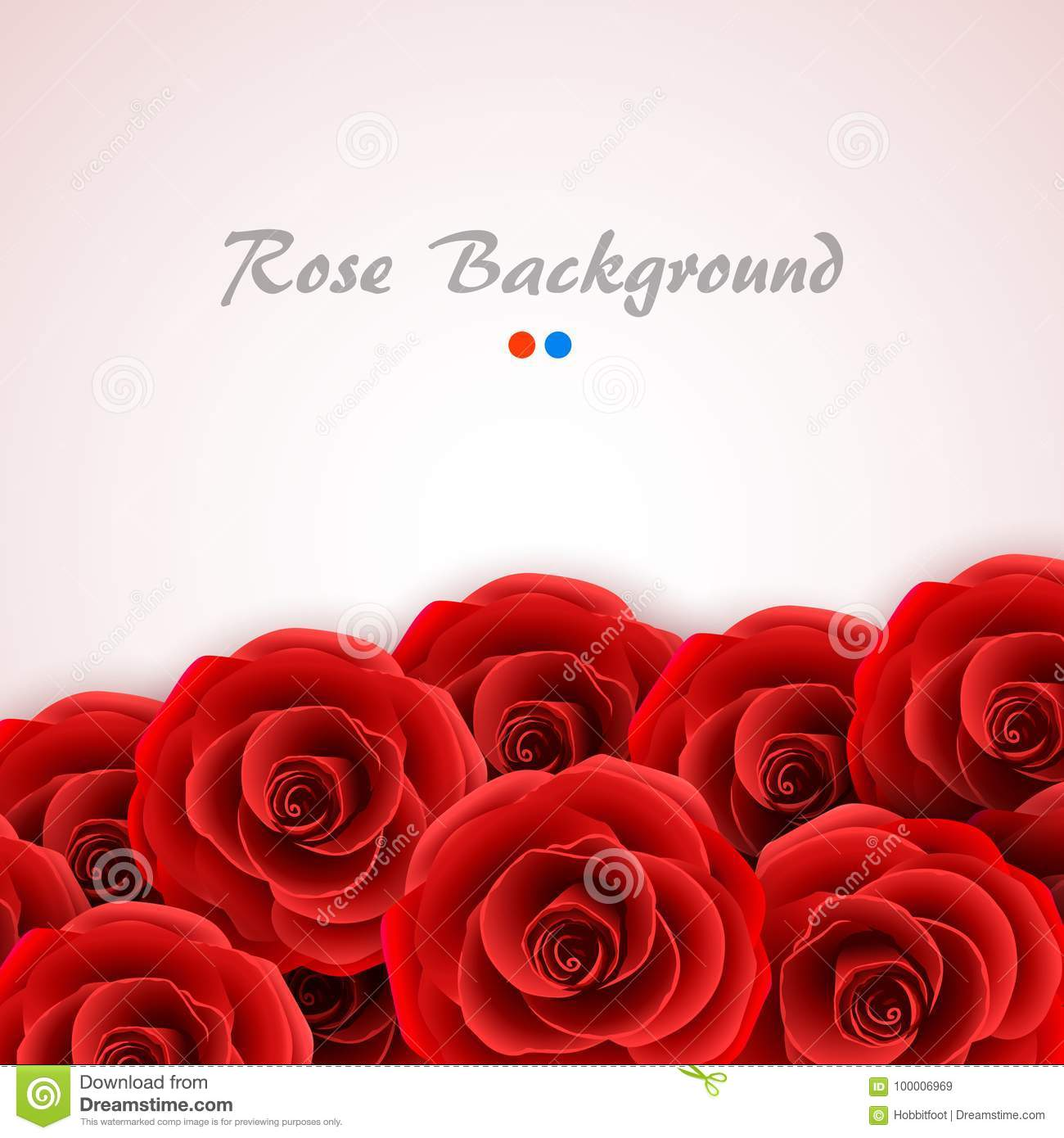 Red Roses Background. Rose Cover For Wedding Invitation, Postcard ...