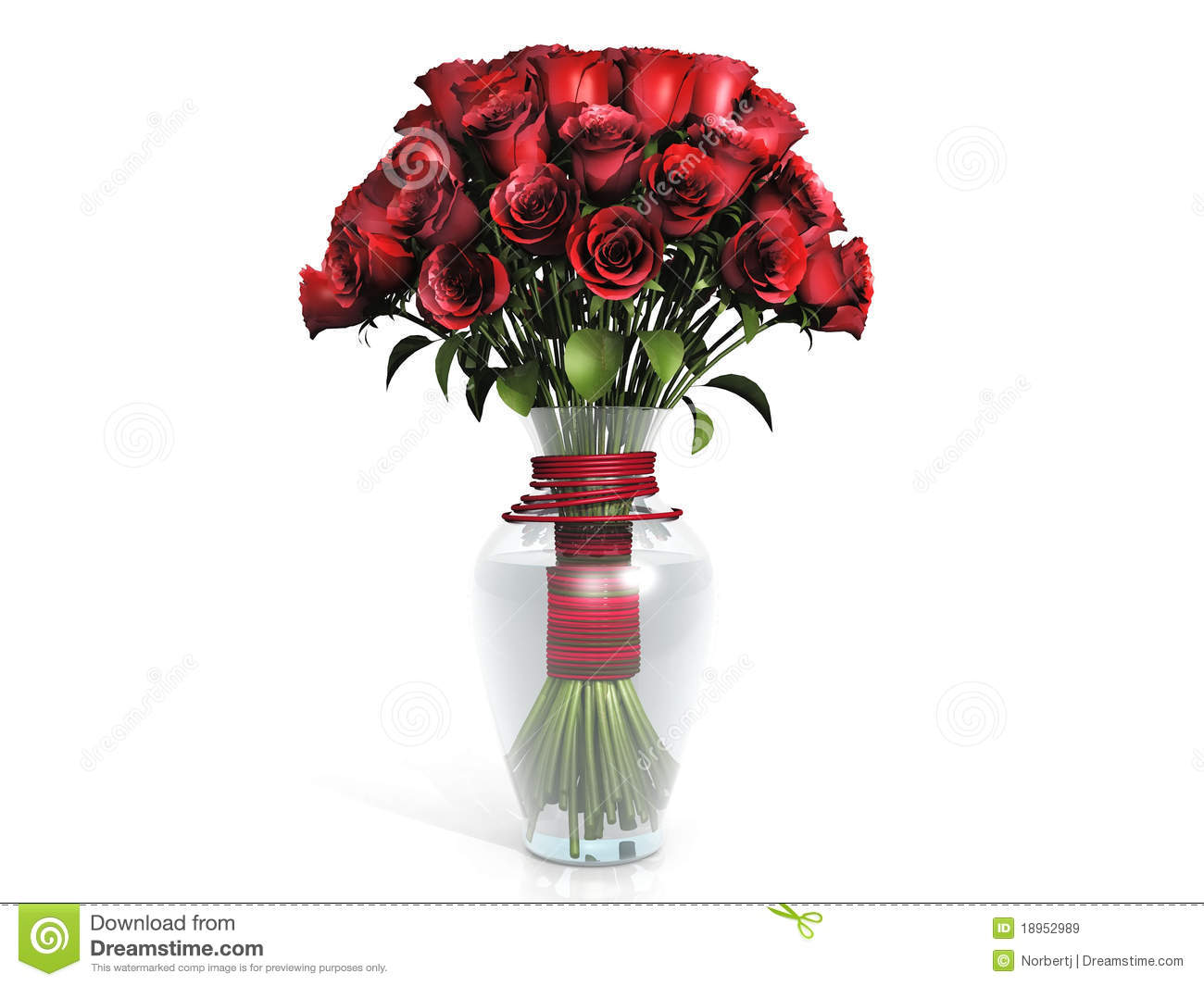 Red Roses Bouquet In Vase Royalty Free Stock Images Image 18952989