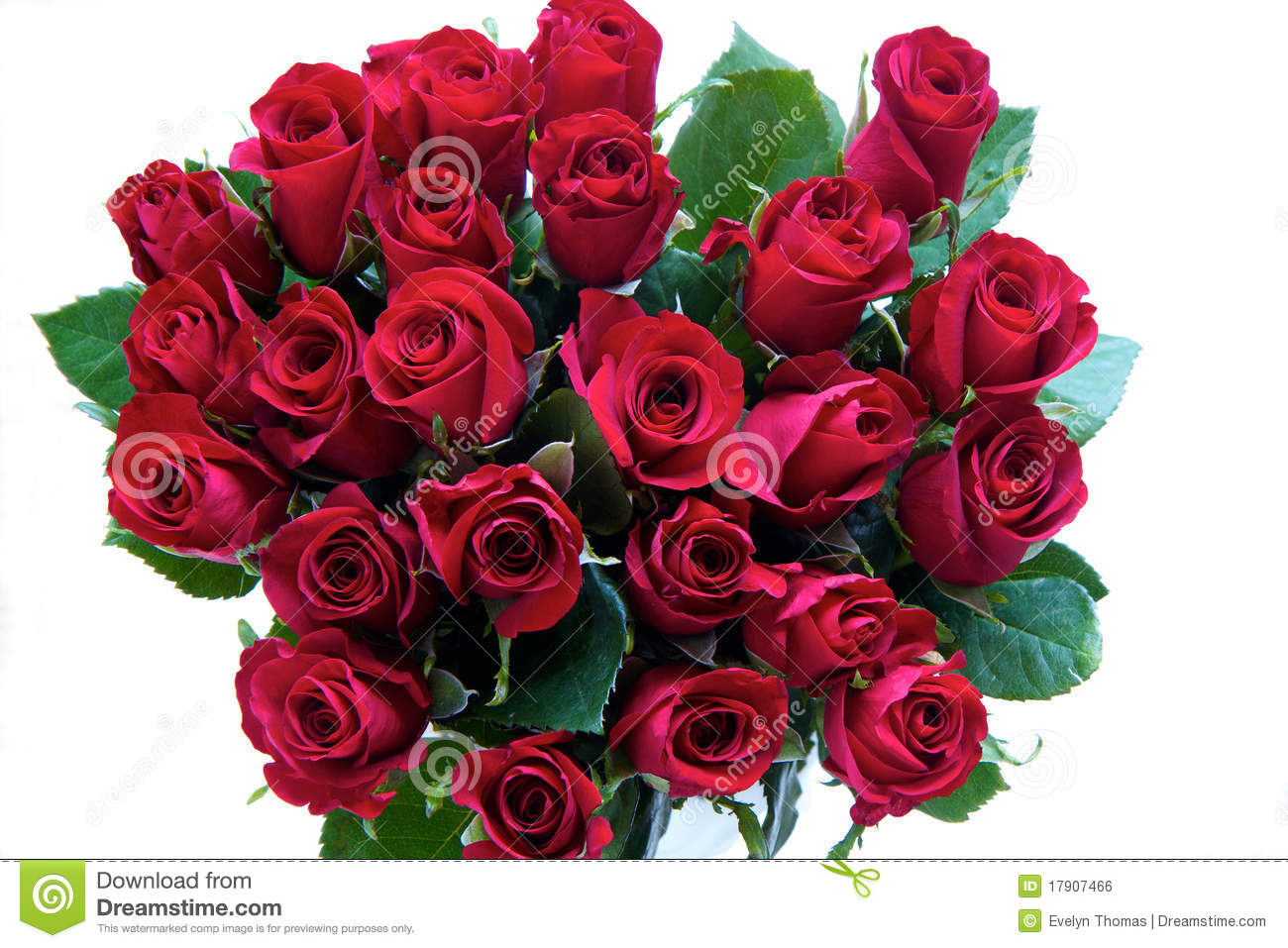 Red Roses In A Bunch Stock Photo. Image Of Flower, Festive