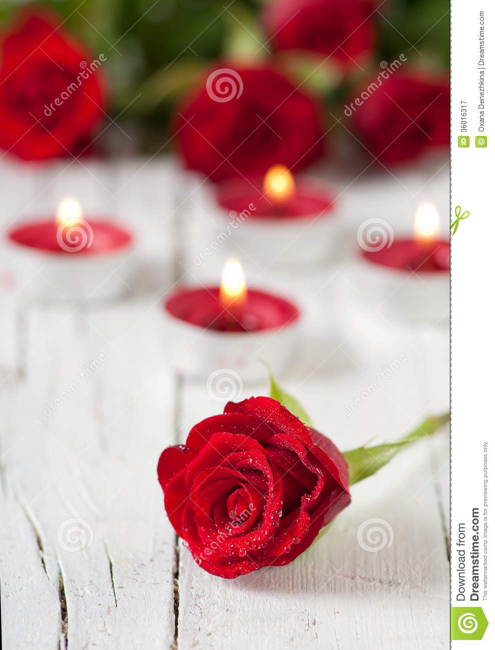 knumathise red roses with candles images, Beautiful flower