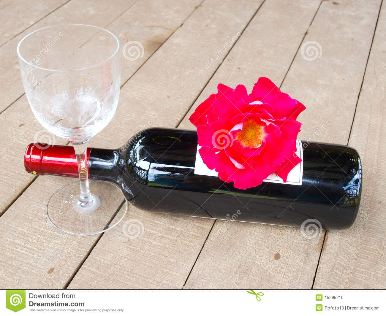 Red roses and red wine