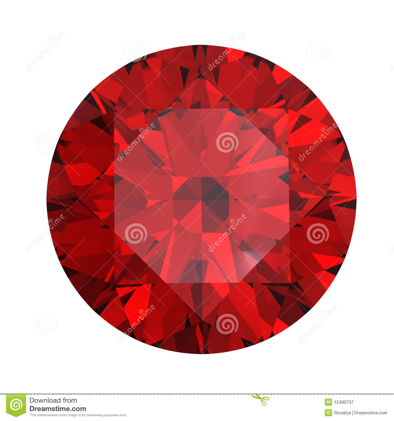 Red Round Shaped Garnet Royalty Free Stock Photography