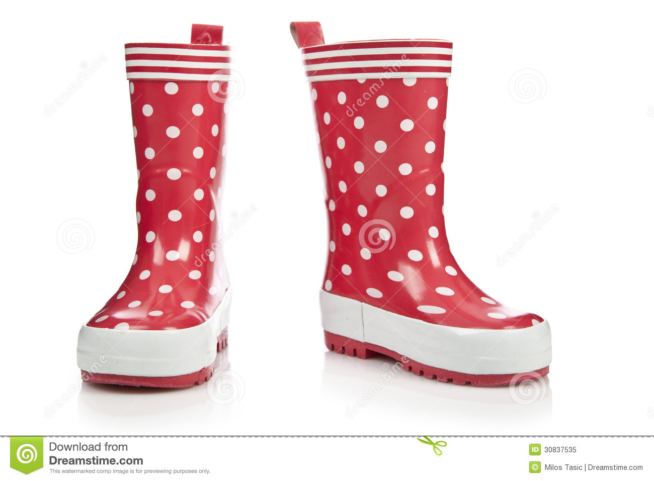 c36b53d7fad7 Red rubber boots for kids isolated on white background