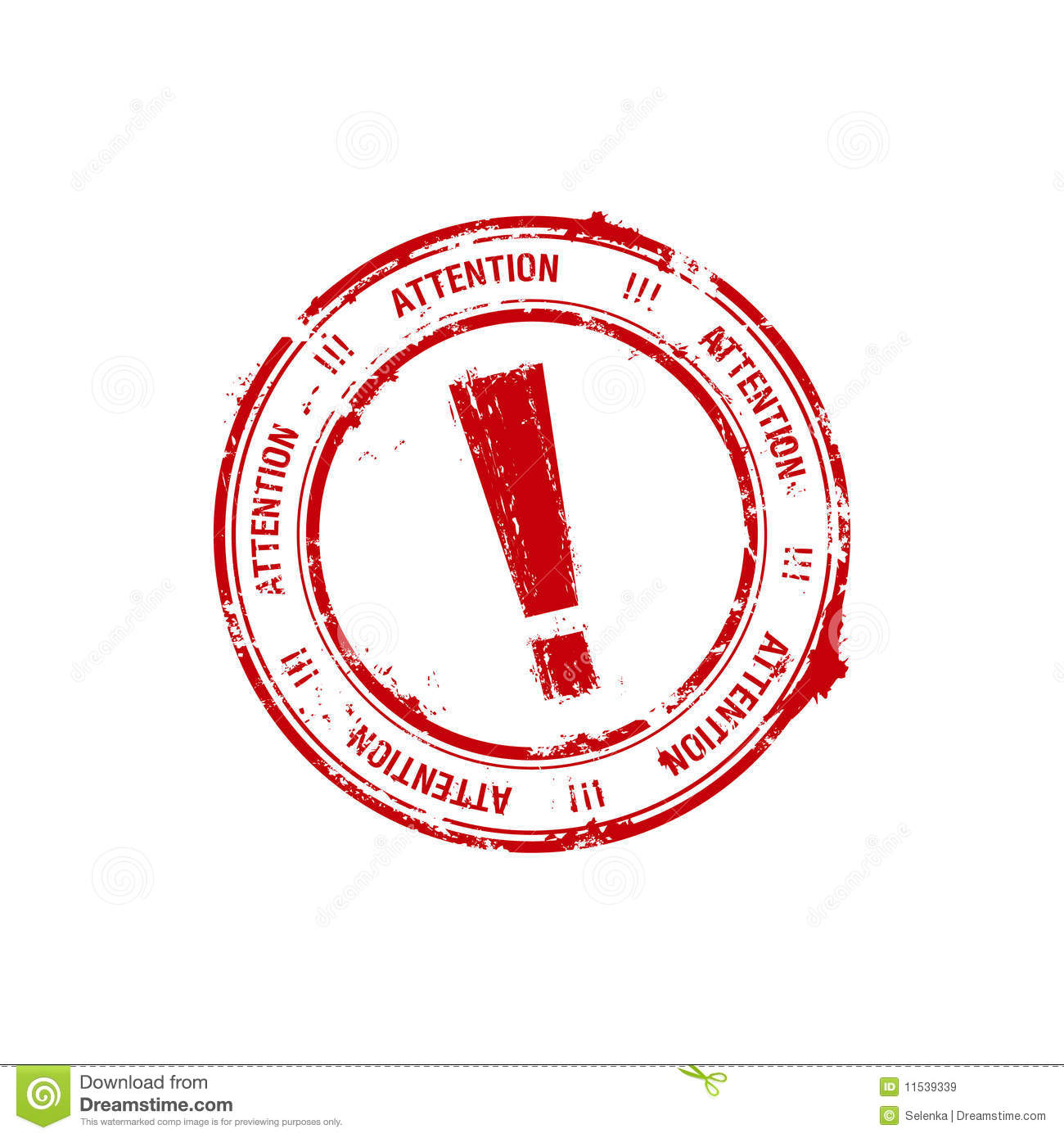 Red Rubber Stamp With The Exclamation Mark Royalty Free ...