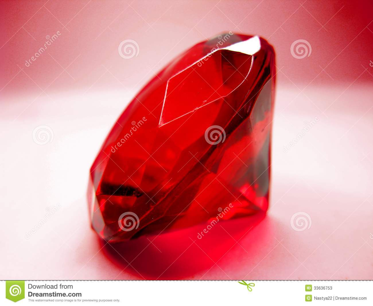Red Ruby Gem Stone Crystal Stock Image Image Of Bright
