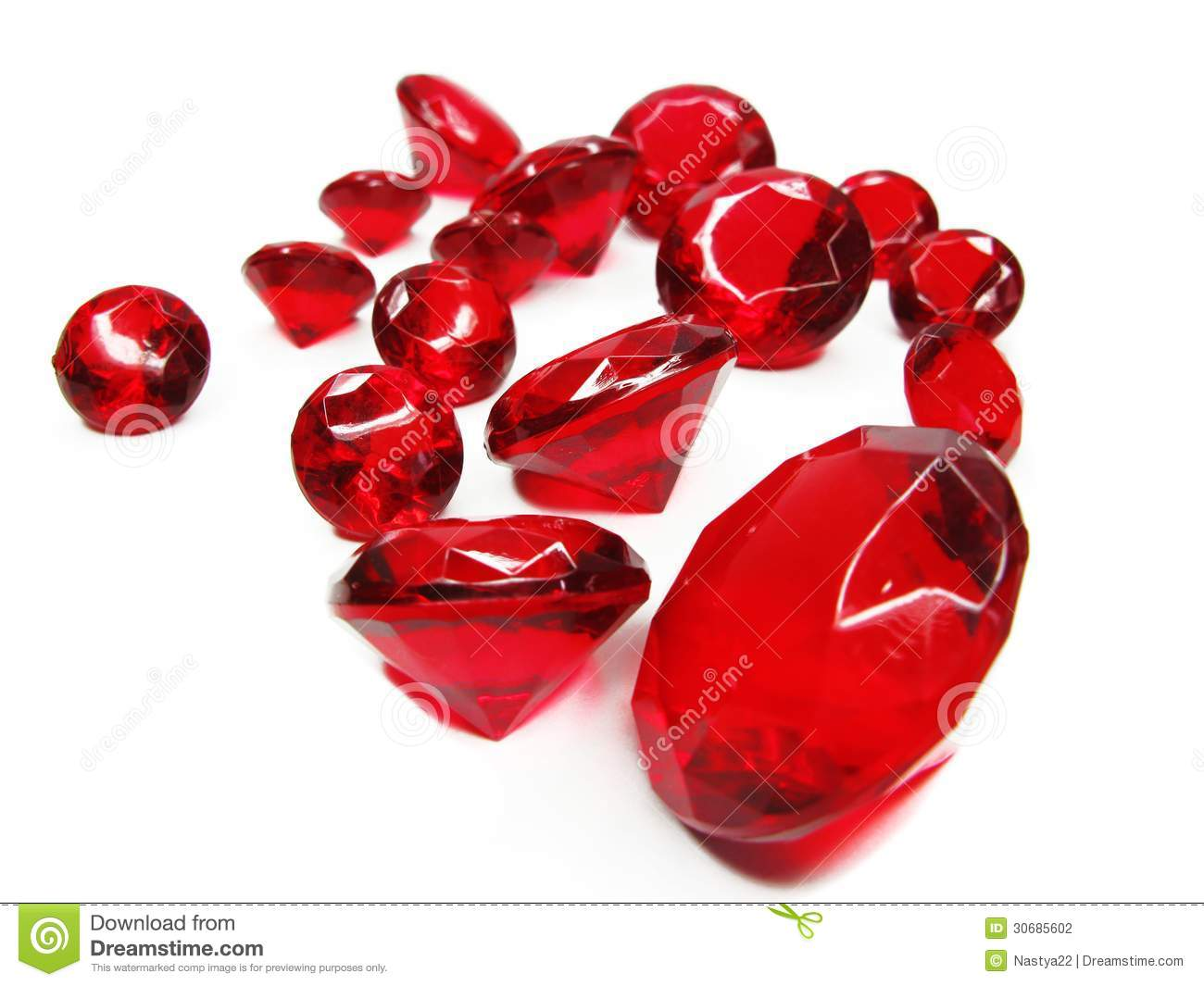 Red Ruby Gem Stones Crystals Stock Photo Image Of Bright