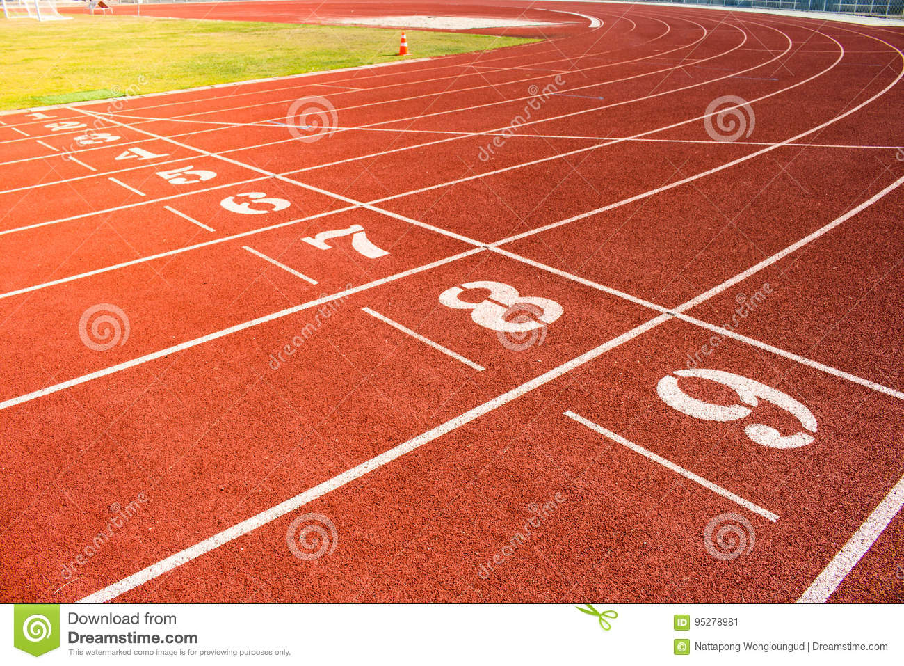 red running track background stock image image of white track