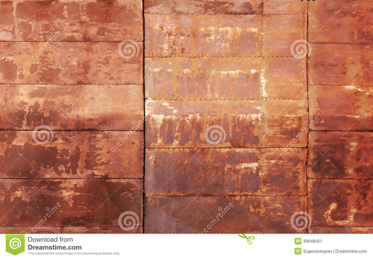 Red Rusted Metal Wall Texture Stock Image Image 30648451