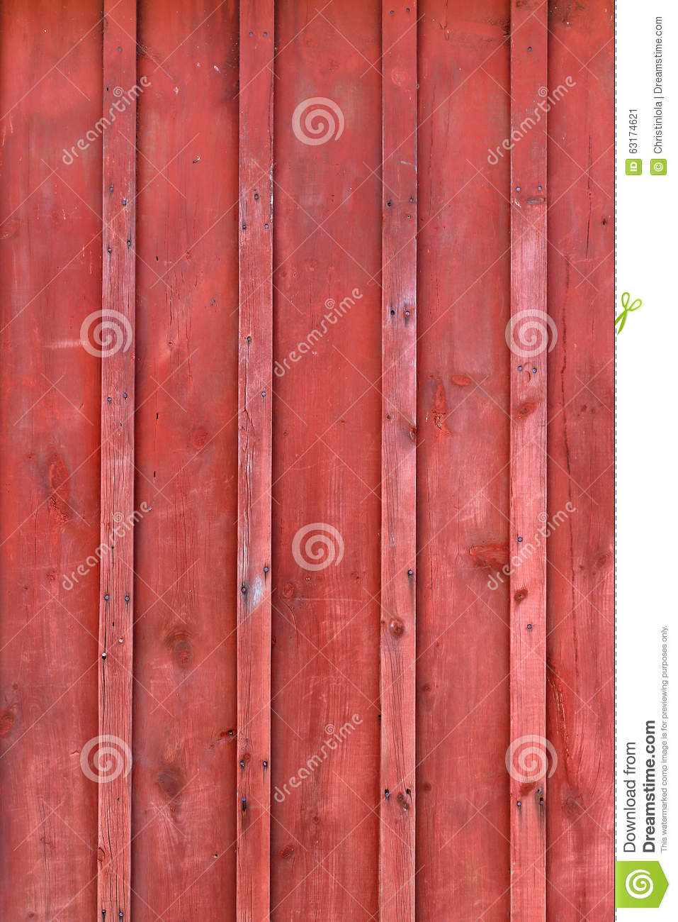Red Rustic Board And Batten Barn Wood Background Stock