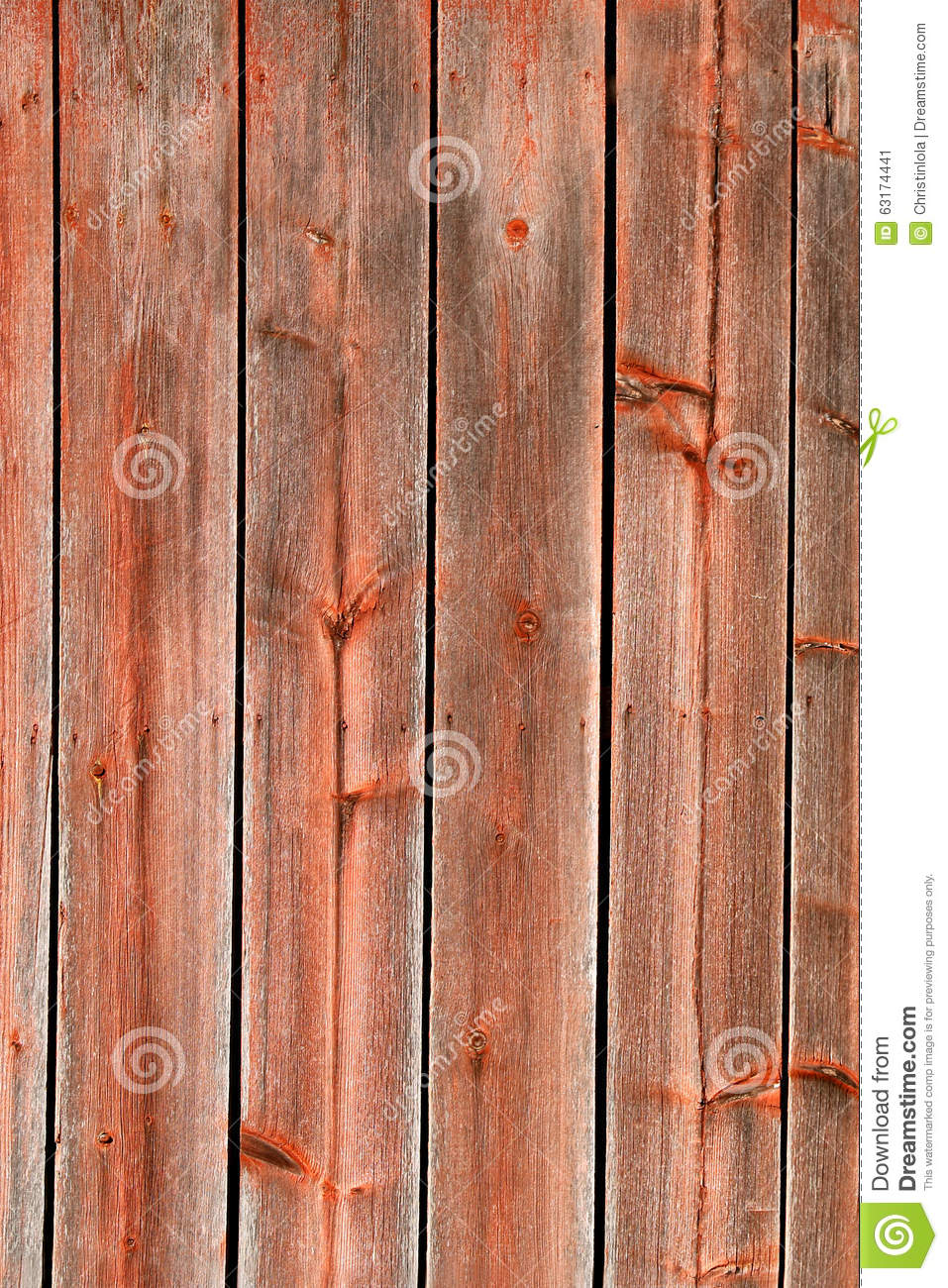 Red Rustic Weathered Barn Wood Board Background Stock