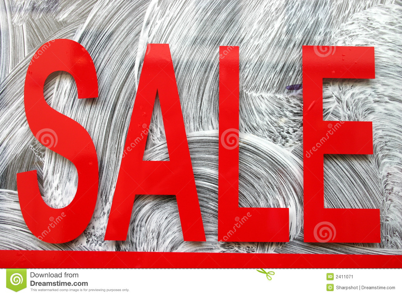 red sale sign  stock image