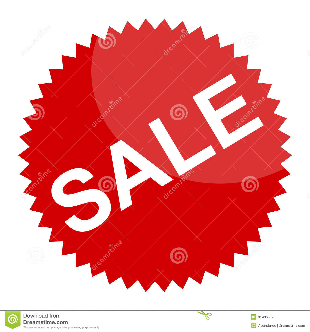 Sale: Red Sale Sign Or Sticker Stock Photography