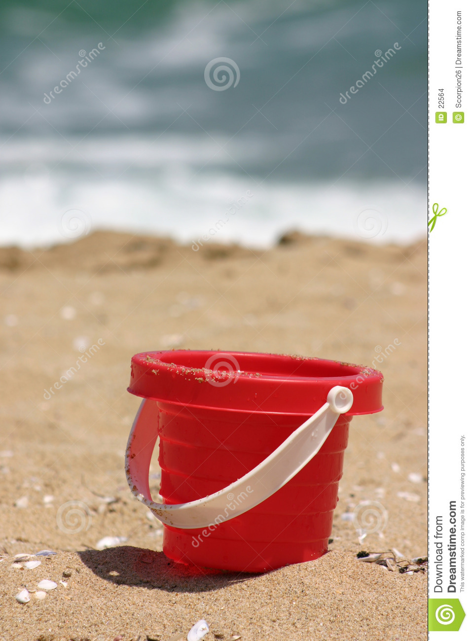 Red Sand Toy on the Beach