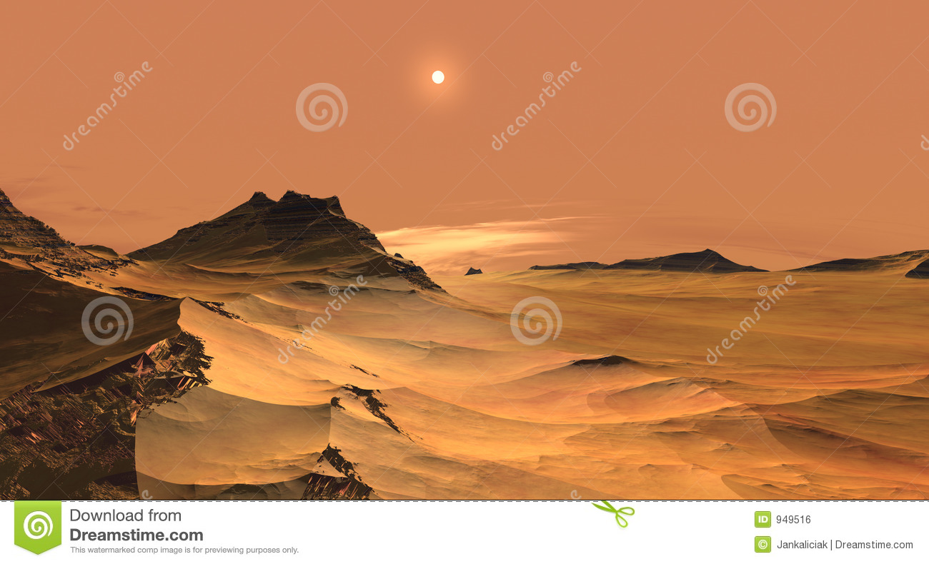 Red sands of Mars