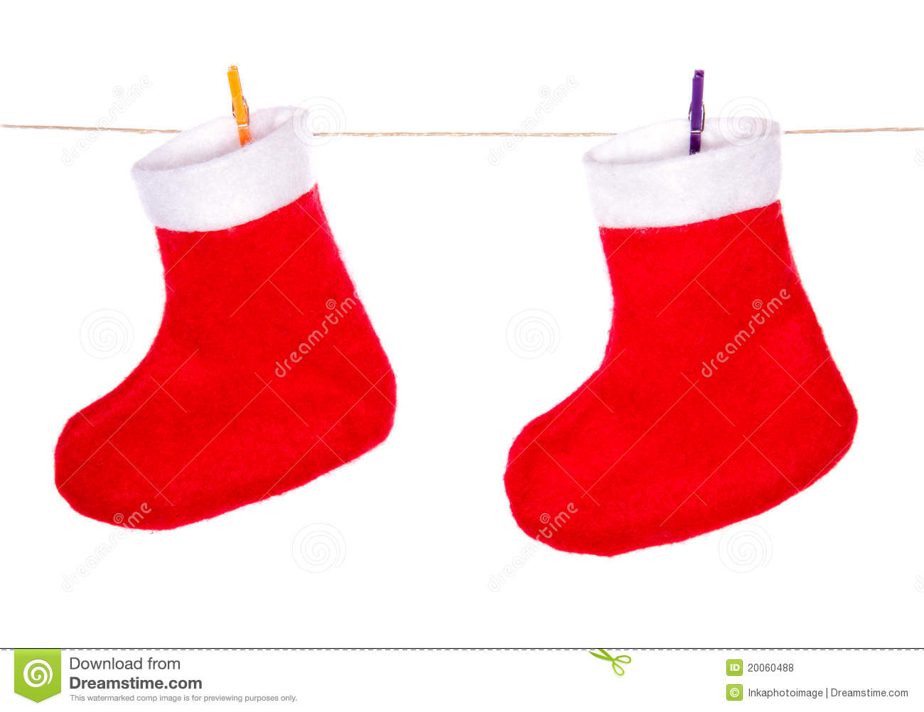 Red santa claus christmas boots stock photo image