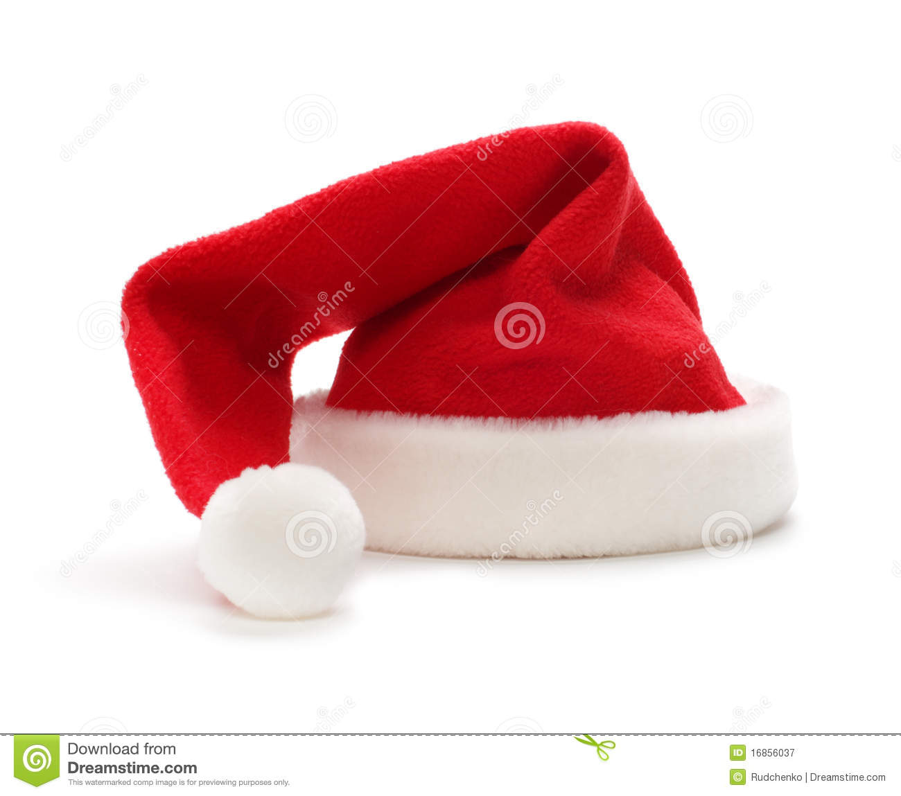 Beautiful Christmas Bells Royalty Free Stock - Red santa claus hat royalty free stock photography image 16856037