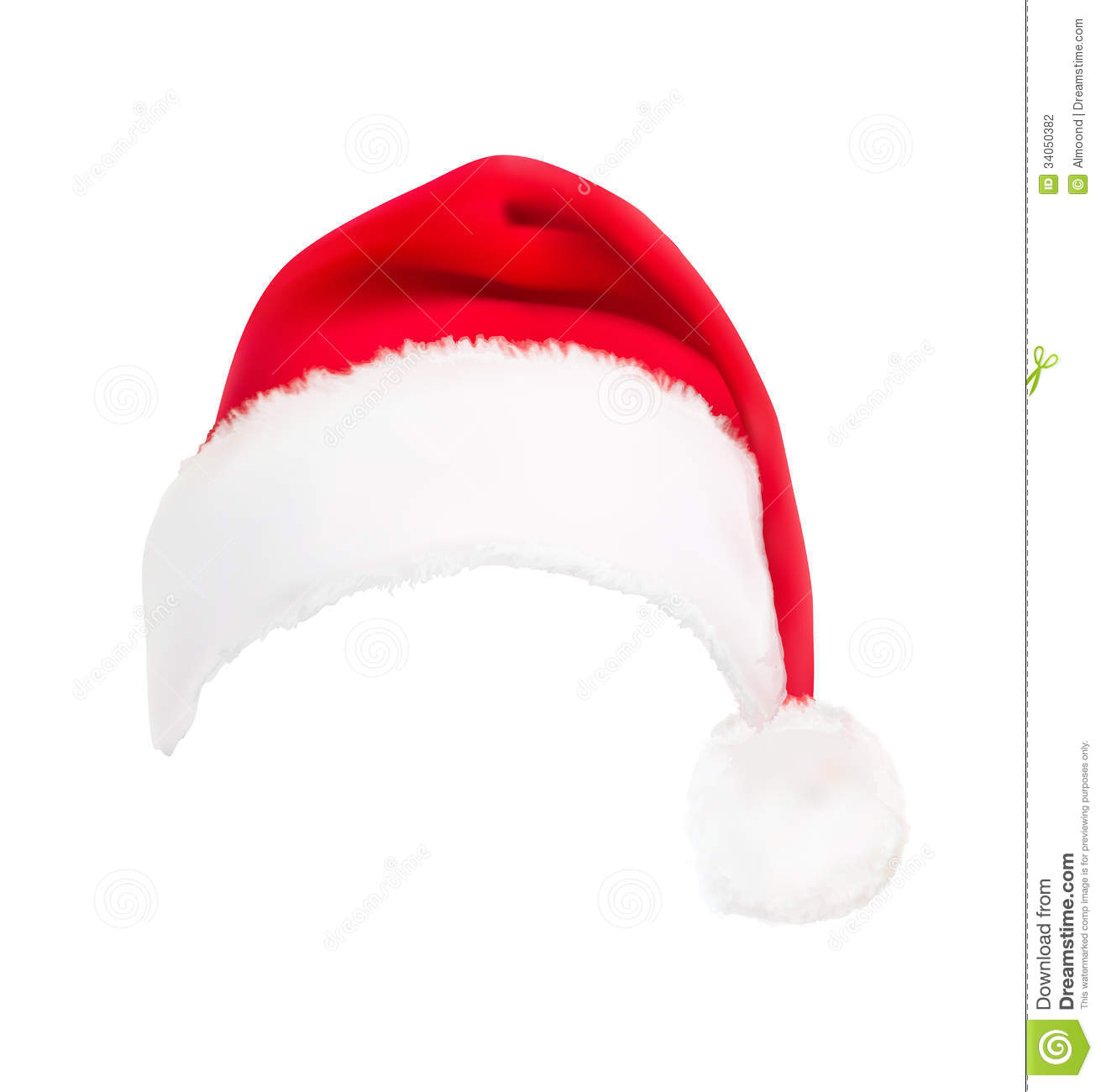 Red santa hat vector stock image of up object