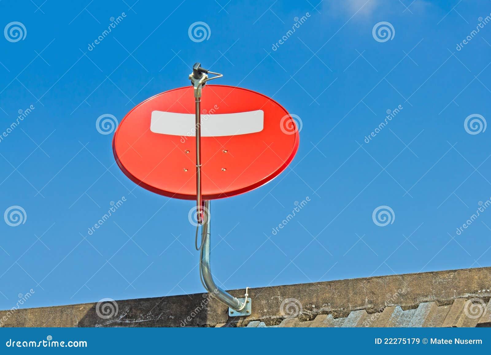 Red Satellite Dish Royalty Free Stock Images Image 22275179