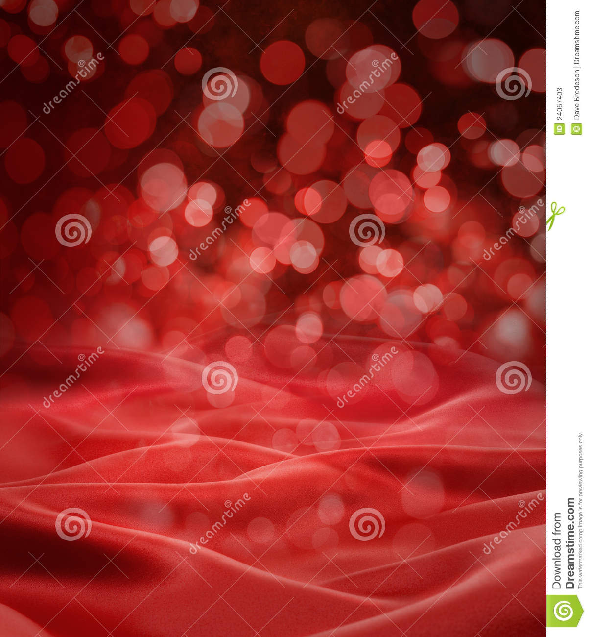 Red Satin Christmas Lights Background