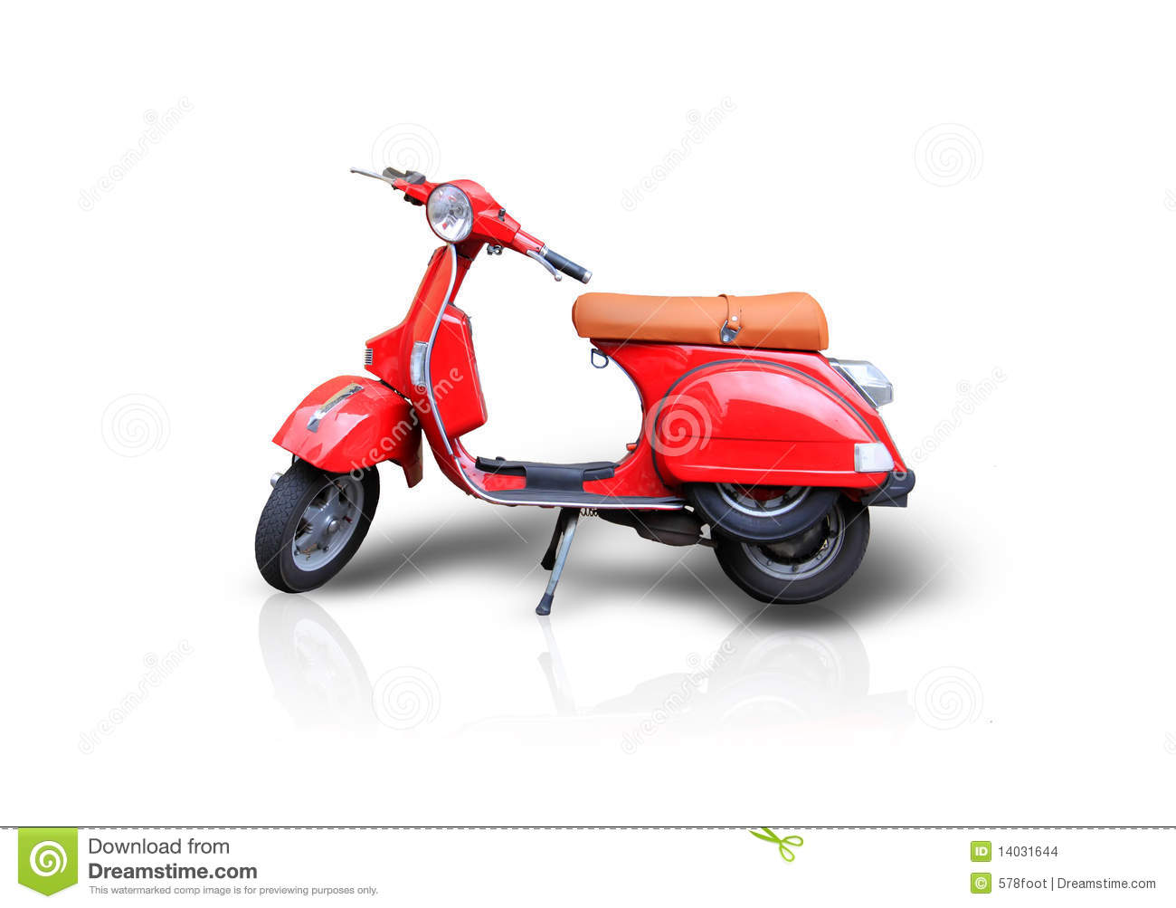 Red Scooter Stock Images - Image: 14031644