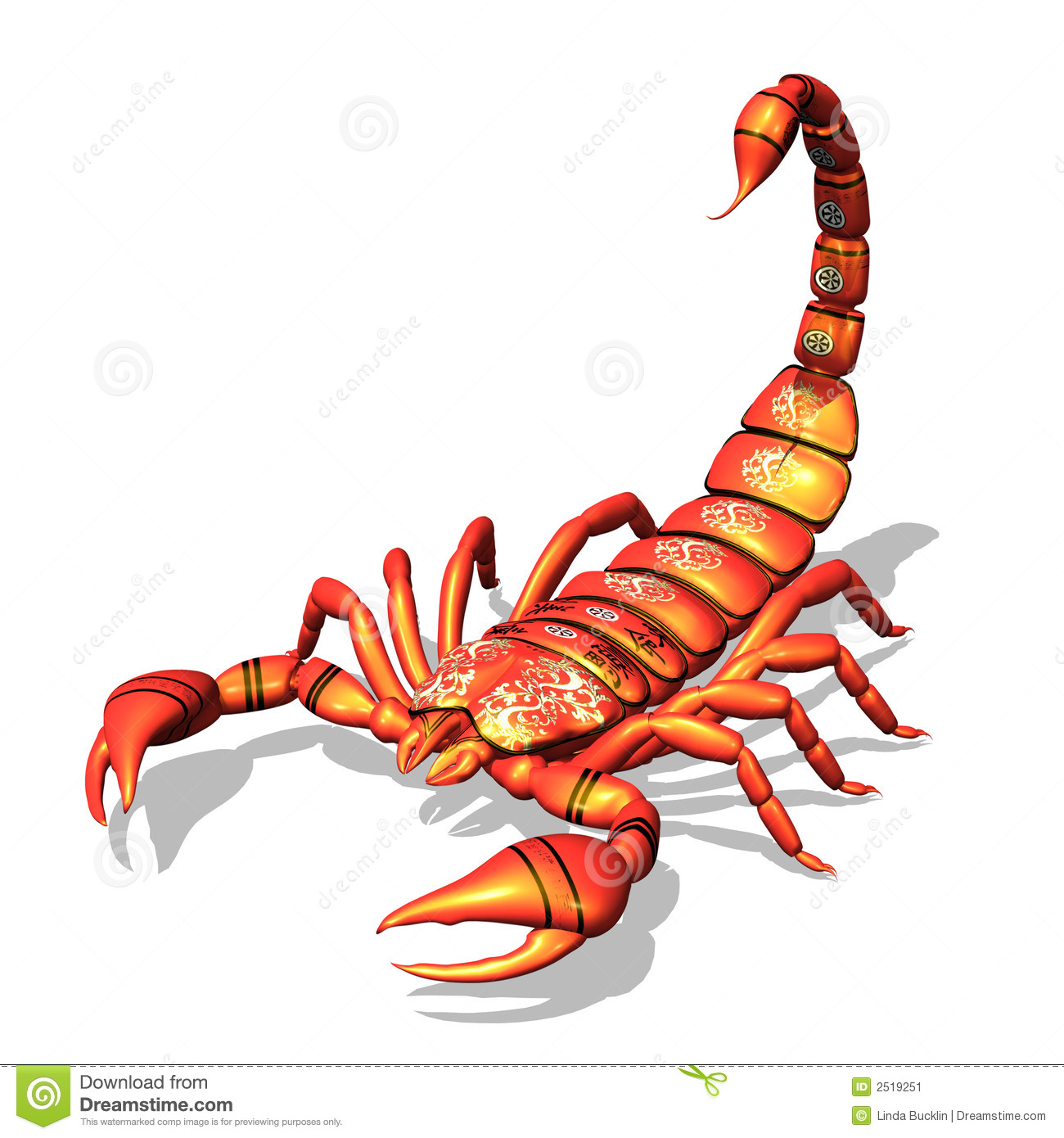 Red Scorpion Stock Image Image 2519251