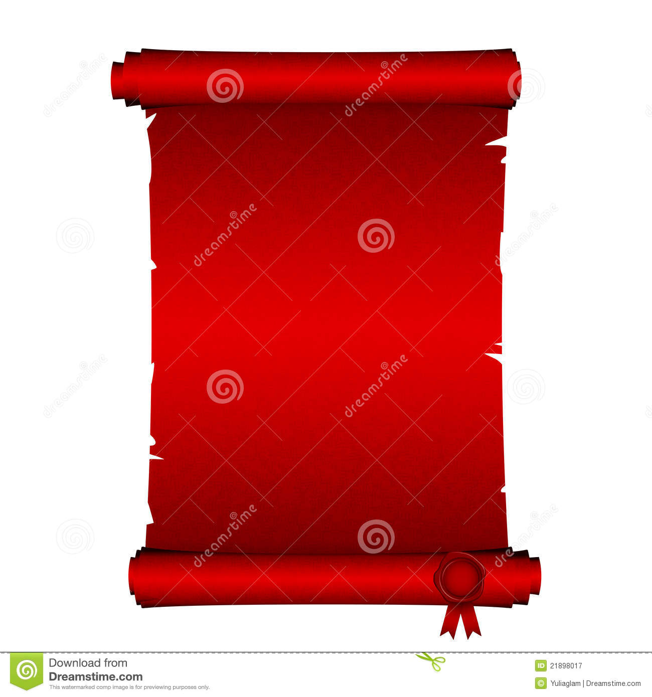 red scroll royalty free stock photography