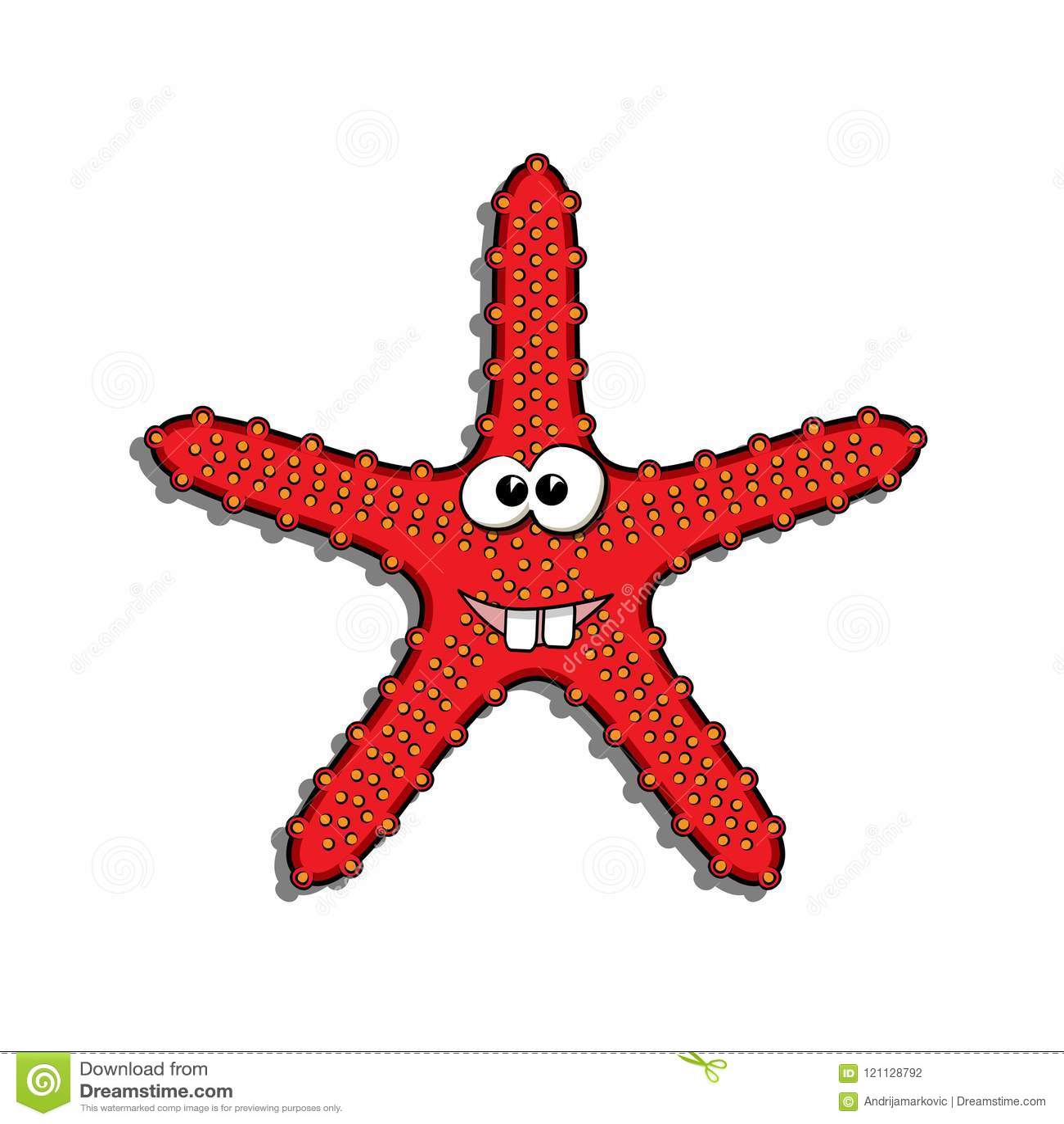 Red Sea Star Cartoon Stock Illustrations – 514 Red Sea Star Cartoon ...