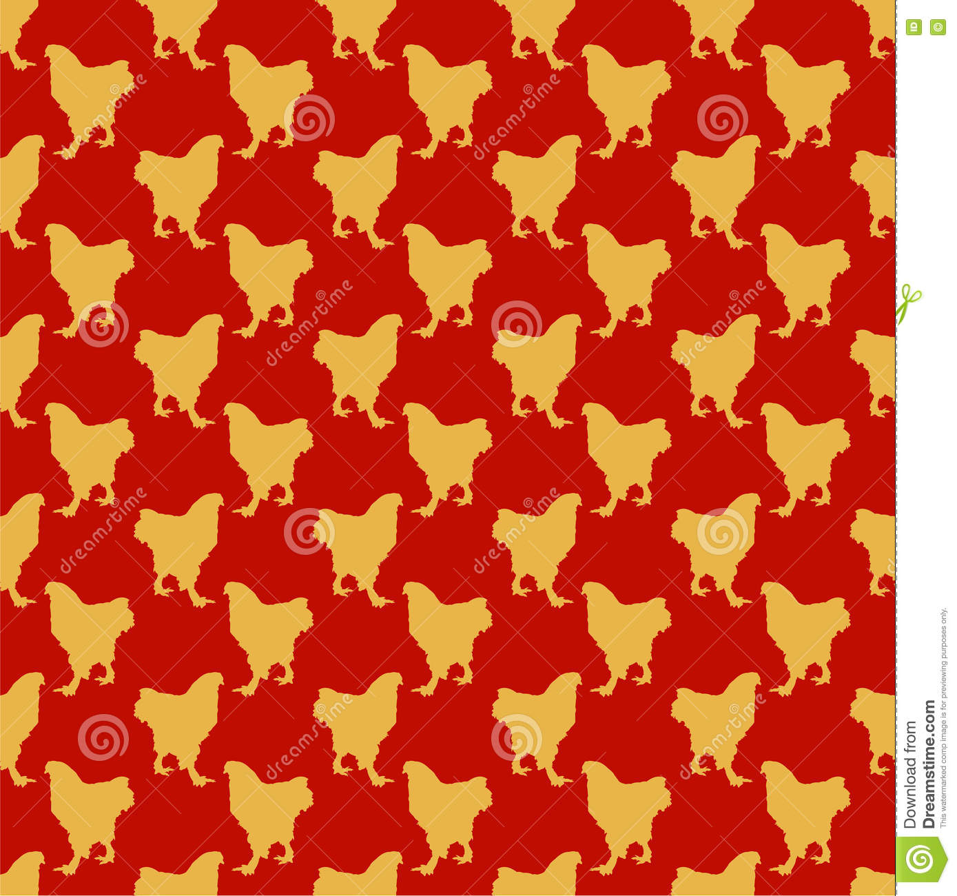 red seamless pattern with yellow roosters chinese new year theme