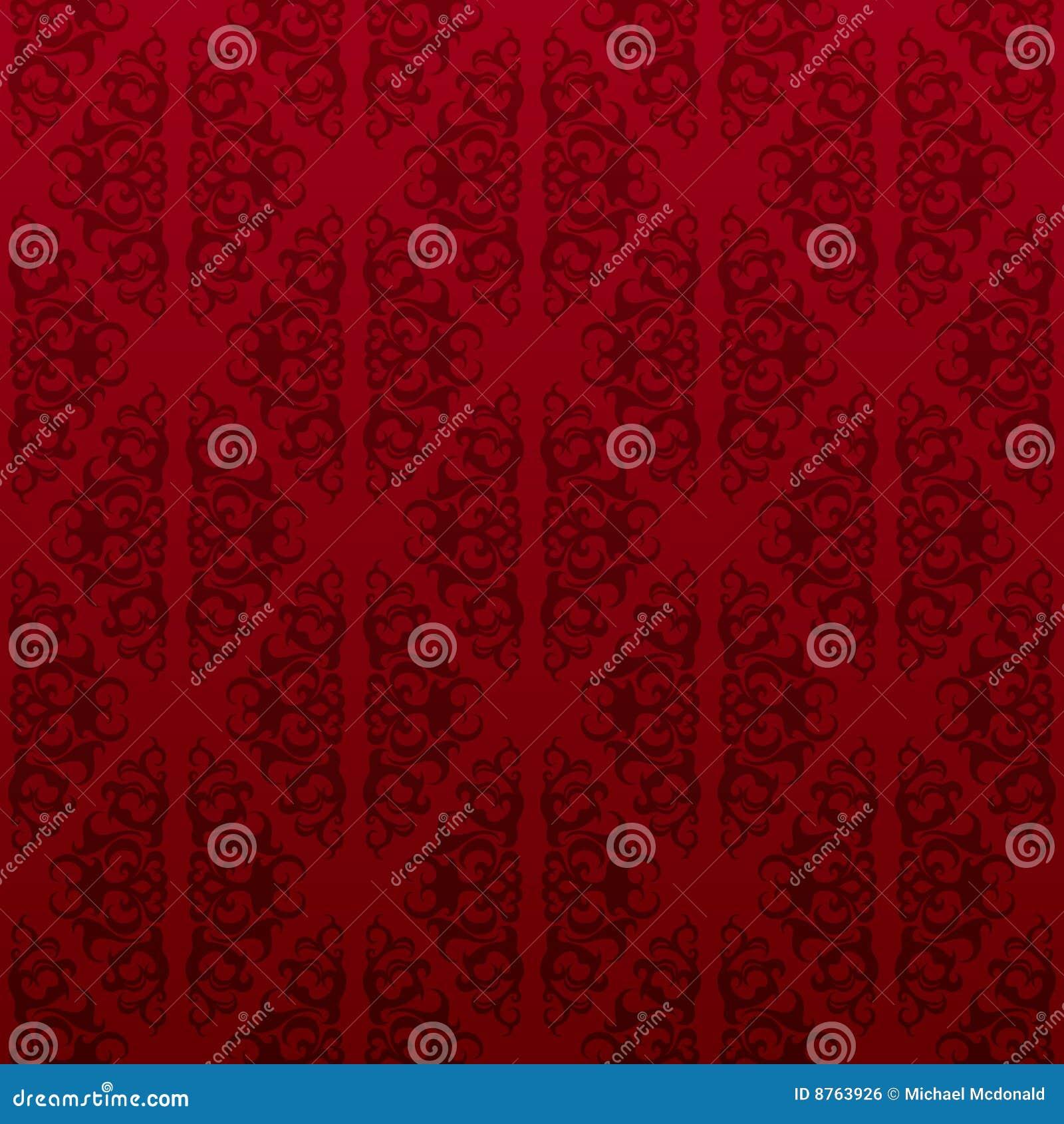 Red seamless vine wallpaper