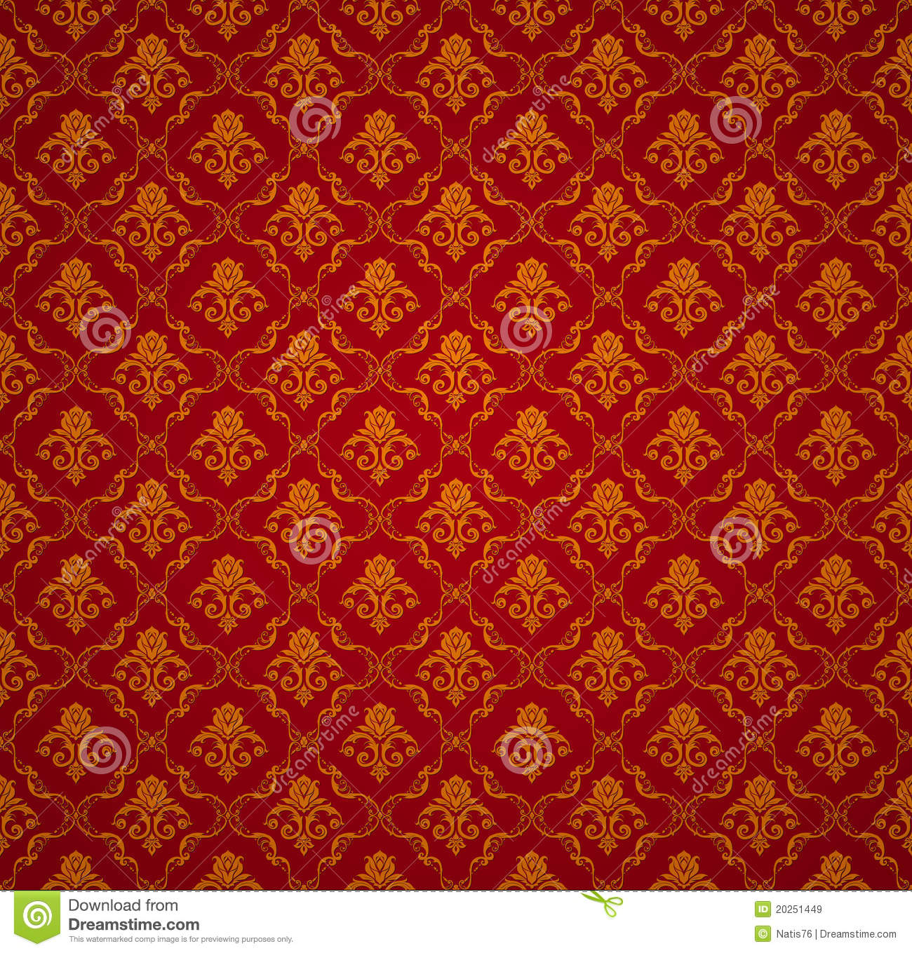 Red Seamless Wallpaper Pattern Royalty Free Stock Images